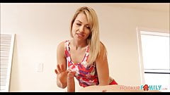 Blonde Teen Niece Zooey Monroe & Uncle Fuck During Massage