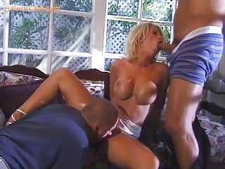 Bib boobs threesome