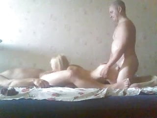 Two men and a beautiful blonde
