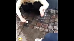 Delicious girl peeing