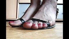 Femboy footslut on high heels