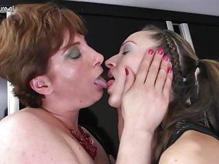 Daughter fucks her mom's lesbian friend