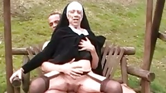 90 year old nun gets fucked in a park by Cougar Champion