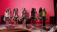 Upskirt cheerleader flashes