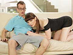 Natalie Mars fucks with the pool boy