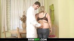 Skinny doctor heals huge boobs blonde plumper
