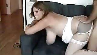 MILF - Plump Amature with Nice Tits Cream Pied
