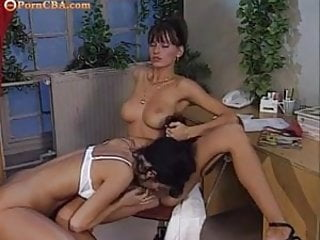 Lucky guy & two horny office chick fucking