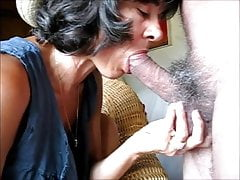 Mature cunt Clarill Statton sucking and spreading