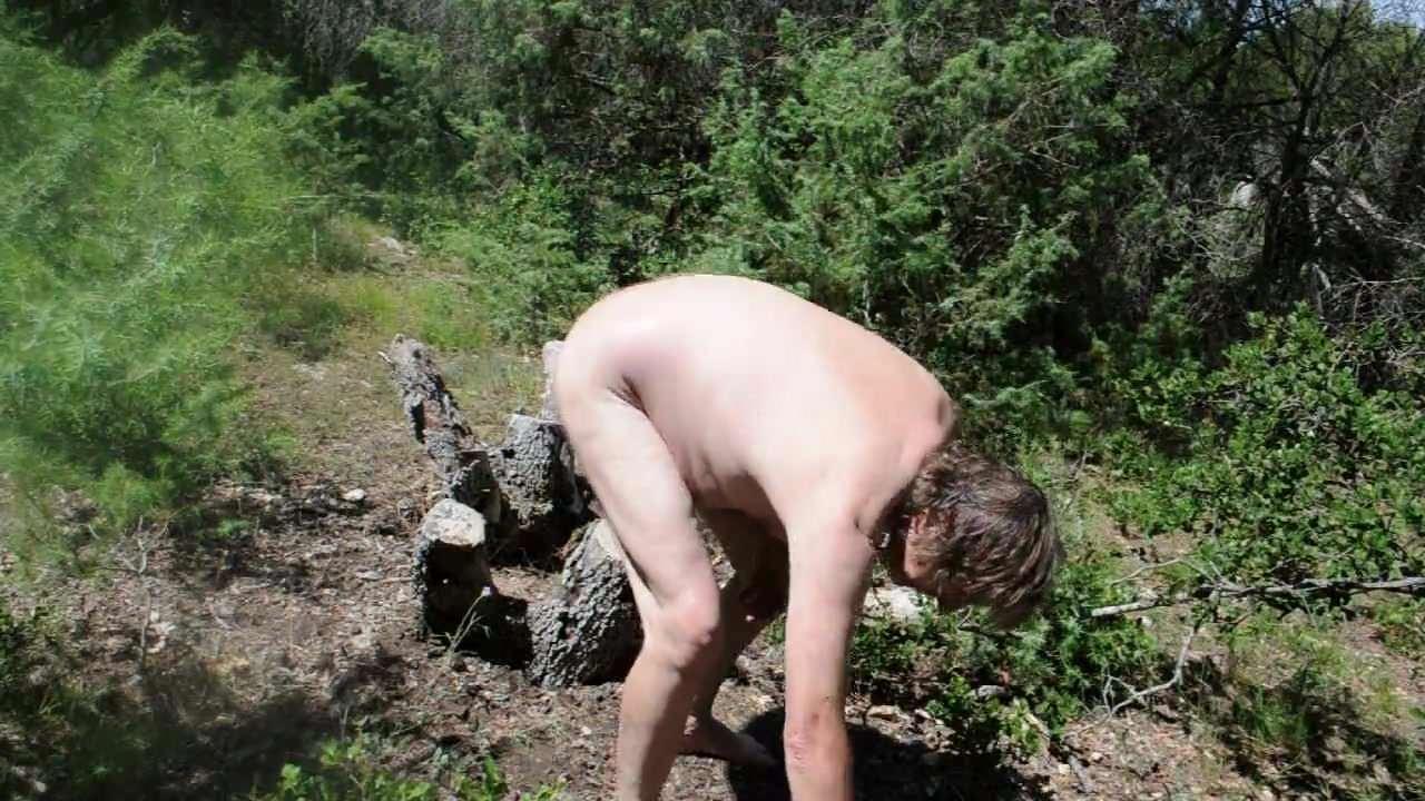 Straight transvestite garden anal fisting sextoy dildo 75