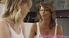 Bombshell Alexis Fawx seduced with 18yo lesbo tongue