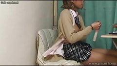 Japanese teens room to peep. Her masturbation with a dildo.