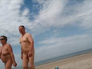 nice woman with big boobs on nude beach