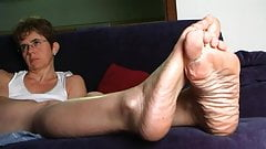 Mature wife feet