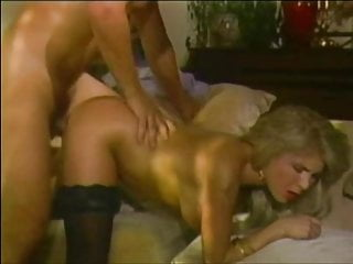 The cutest little American blonde in black stockings fucked