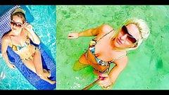 Melissa Hardbody Stripper Snakeskin String Bikini