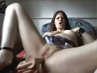 Having heel high in sex woman - High heeled squirting woman loves her dildo