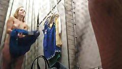 Blonde changeroom blue dress.mp4