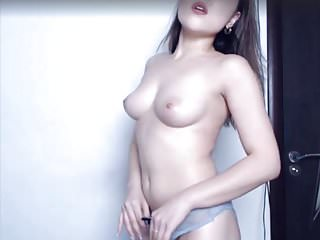 Strip show Asian slut orgasm