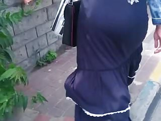 Hijab ass walking