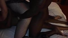 Wife with 2 BBC in hotel room