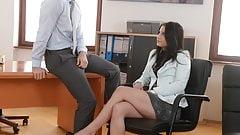 Secretary fucks her big cocked boss