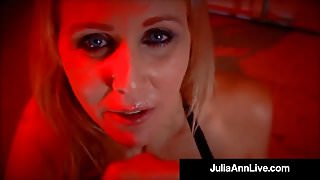 Busty Blonde Milf Julia Ann Smokes A Big Cock & Cigarette!