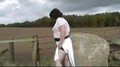 Linda - White see through skirt