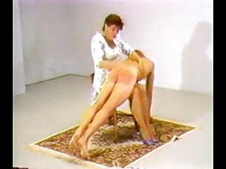Mistresses Take Turns Otk Spanking A Sub