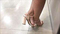 candid feet in heels