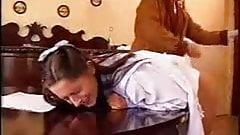 Vintage bdsm spanking the maid KOLI