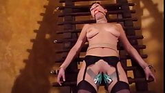 Big tits chick Audrey bound and gagged for a BDSM session