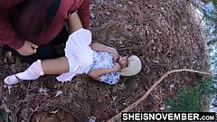 Spread Eagle By Moms Husband & Fucked Missionary In Forest