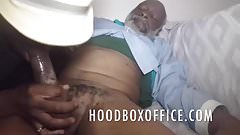 Black grandpa dick suck by my