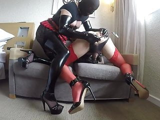 Ass training by pervy CD Mistress