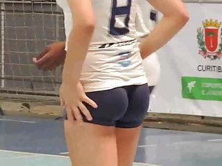 Playing volleyball with a tight shorts - Part 1 of 2