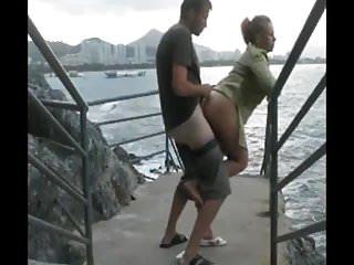 baise au bord de la mer