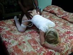 Blonde wife gets BBC doggystyle