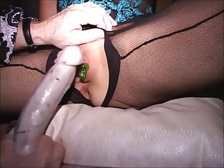 Big clit masked MILFs 2 cums Sucked standing Flat on back