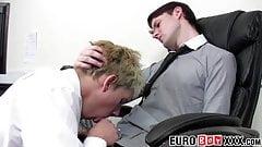 Office twink Jake Hardy fucks for cumshot after blowjob