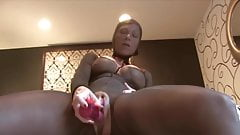 Nylon Sex Toy Solo Squirting Milf #MrBrain1988