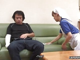 Asian housekeeper helps him out with his problem