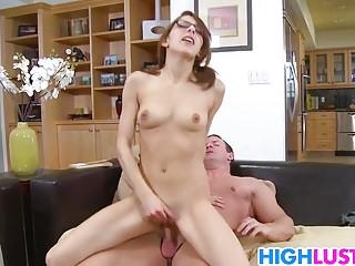 Nerdy Schoolgirl Lexi Bloom Learns Quick