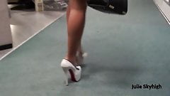 Buttplug and high heels