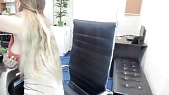 Downblouse In The Office 4