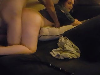 Coworker fucking my girl then dumps load in her