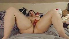 BBW masturbation dildo