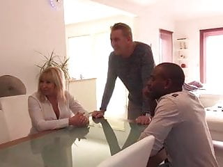 Preview 1 of Emmanuelle 47 years old takes huge black cock