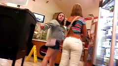 CUTE BOOTY AT THE STORE