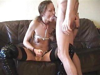 Kinky couple- wife strap-on fucks hubby
